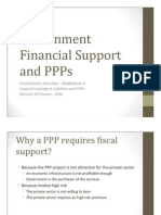 Government Financial Support and Ppps