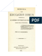 Sarmiento Domingo Faustino - Memoria Sobre Educacion Comun