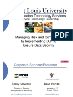 Managing Risk and Compliance by Implementing DLP to Ensure Data Security (166295258)