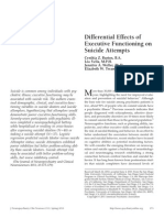Differential Effects of Executive Functioning on Suicide Attempts