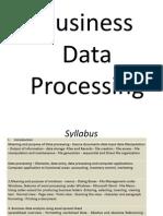 Data Processing