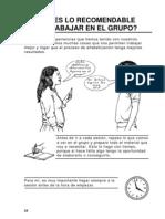09. Qué es lo recomendable para trabajar en el grupo