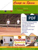 Tennis Summer Camp in Spain Poster