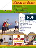Poster for Summer Camps for Teenager in Alicante Spain