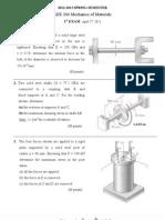 MaterialExam1 Solutions
