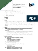 Programa Ensino INE5602 20082