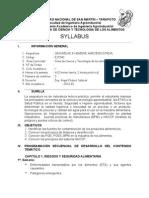 Sílabo Seguridad e Higiene Agroindustrial 2013-I