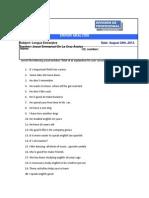 Error Analysis 1
