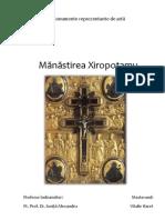 Referat Manastirea Xiropotamu