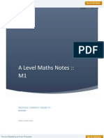 A Level Maths M1 Notes