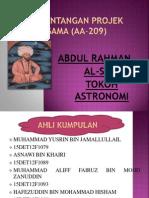 """Pembentangan Projek Agama (AA-209) """"Abdul Rahman Al Sufi"""""""