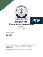 Hrm Assignment