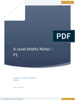 A Level Maths P 1 Notes