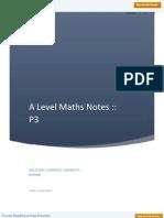 A Level Maths P 3 Notes
