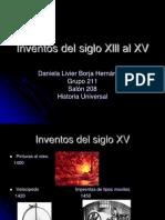 Inventos Del Siglo Xlll Al XV