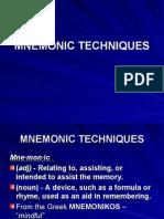 Mnemonic Techniques