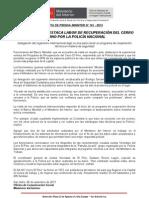 BANCO MUNDIAL DESTACA LABOR DE RECUPERACIÓN DEL CERRO EL PINO POR LA POLICÍA NACIONAL
