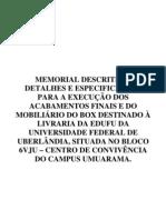 1. Modelo de Memorial Descritivo