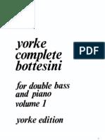 Bottesini - Yorke Complete Bottesini Vol.1 - Contrabajo