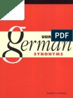Using German Sinonyms
