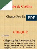 Cheque - Trabalho Cheque pós-datado