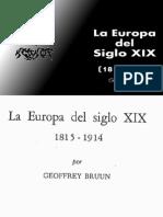 Geoffrey Bruun - La Europa Del Siglo XIX (1815-1914)