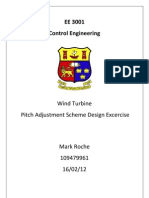 Wind Turbine Pitch Adjustment Scheme Design Exercise