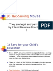 26 Ways to Slash Taxes