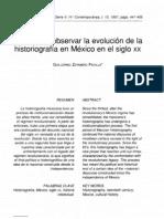 Notas para observar la evolución de la historiografía en México en el siglo XX-Guillermo Zermeño Peña