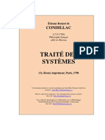 Condillac Traite Des Systemes