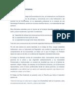 CODIGO DE ÉTICA DEL ECONOMISTA