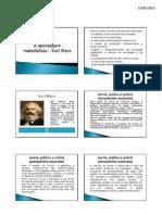 A Abordagem Materialista _ Karl Marx