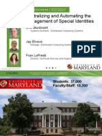 Centralizing and Automating the Management of Special Identities (166352352)