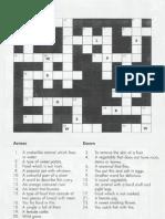 Crossword Puzzle ( Animals )