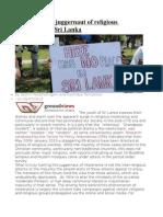 Disarming the Juggernaut of Religious Intolerance in Sri Lanka