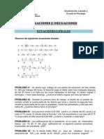 Ficha de Trabajo 04 - Ecuaciones e Inecuaciones