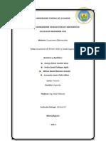 Ecuaciones de Primer Orden y Grado Superior