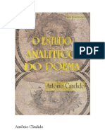Antonio Candido O Estudo Analitico Do Poema