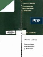 120889109 120043888 Godelier M 1976 Funcionalismo Estructuralismo y Marxismo Barcelona Cuadernos Anagrama PDF