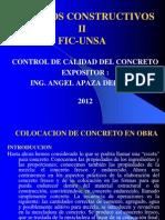 Colocacion de Concreto en Obra-2da Parte-2012