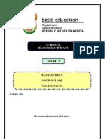 Mathematics+P2+Nov+2012+Memo+Eng