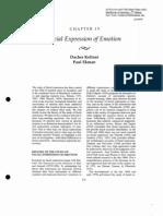 Facial Expression of Emotion