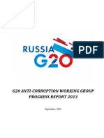 G20 Anti-Corruption Working Group Progress Report 2013
