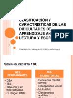 Clasificacion y Caractristicas de Las Dificultades de Aprendizaje Lecto_escritura