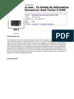 HP ProLiant MicroServer AMD Turion II N40L _ Edición para imprimir