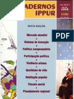 34Cadernos IPPUR - Ano XXII, n1, Jan-jul 2008