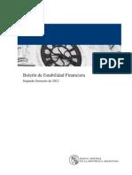 (2012-10-11) - Boletín de Estabilidad Financiera, BCRA