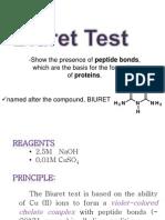 Biuret test