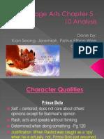 Language Arts Chapter 5 - 10 Analysis v5