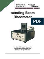 Bending Beam Rheometer